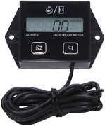 Timorn Tachometer For Small Engine,inductive Hour Meter 2 Stroke And Black