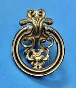 Antique Hardware Chic French Provincial Round Drop Ring Drawer Pull Cabinet Knob