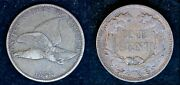 1858 Flying Eagle 1c One Cent Coin - Philadelphia Mint Small Letters U.s. Penny