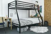 Twin-over-full Bunk Bed Metal Slat Support System Child-friendly Kids Bedroom