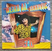 Weird Al Yankovic Signed In 3-d Vinyl Record Actor Comedian Comedy Legend Rad