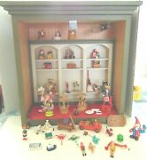 Toy Shop. Ooak. 44 Toys-some Signed. Some Mechanical. Wood Shop And Wood Toys