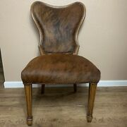 Theodore Alexander Accent Chair Hair On Hide Replica Collection Modern Rustic