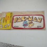 Vtg 1980s New Midway Pacman Classic Video Game Iron On Patch Nos. Sealed