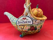 Jim Shore Thanksgiving Basket Horn Of Plenty Heartwood Creek 2007 New With Tag
