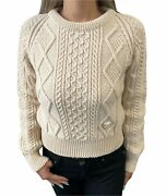 Vintage Coco Mark Logo Sweater Knit Tops Wool Ivory Rankab