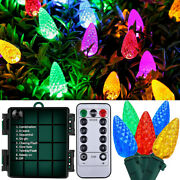 10m/33ft 100 Led Strawberry String Lights Bulb Ip65 Battery Operated Xmas Garden