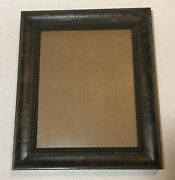Larson Juhl Picture Frame Picture Frame 8 X10 Vintage Leather Trim Italy Rare
