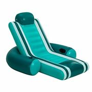 Inflatable Pool Lounger Heavy Duty Comfortable Pool Float Lake Raft With Head