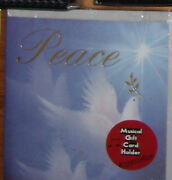 Rare Peace Greetings Musical Plays Xmas Christmas Song Dove Gift Card Holder