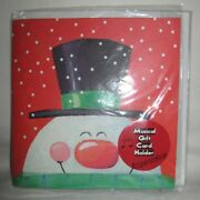 Vintage Rare Frosty Greetings Musical Plays Xmas Christmas Song Gift Card Holder