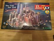 Puzzle 3d New York New York 3141 Pieces - Sealed And New Rare / Discontinued