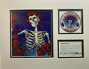 Grateful Dead Stanley Mouse Signed Lithograph Print Album Art - Skeleton And Roses