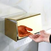Toilet Paper Holder Gold Stainless Steel Bathroom Accessories Roll Phone Rack