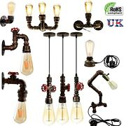 Vintage Industrial Style Steampunk Pipe Lighting Wall Table Pendant Lights Lamps