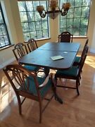 Mahogany Antique Duncan Phyfe W/ 6 Chairs 1930and039s