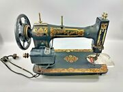 L👀k 🔥 Vintage White Family Rotary Treadle Sewing Machine With Foot Pedal