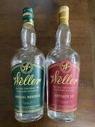 Lot Of 2 Empty Weller Special Reserve And Antique 107 Bourbon Whiskey Bottles