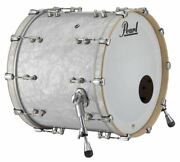 Pearl Music City Custom Reference Pure 22x18 Bass Drum W/ Mount White Marine Pea