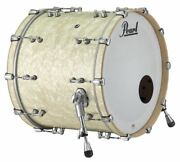 Pearl Music City Custom Reference Pure 22x18 Bass Drum W/ Mount Nicotine White M
