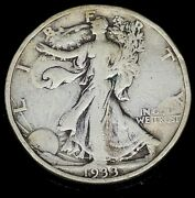 1933 S Strong Xf Details Walking Liberty Silver Half Dollar U.s. Coin 1