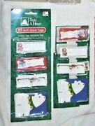 Vintage Trim A Home Christmas Holiday Variety Gift Tags Self Stick New/used