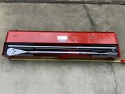 Snap On L873 Rachet Head With Snap On Torque Wrench 200-1000ft Lb In Case.