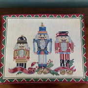 Kemp And Beatley Placemats Nutcracker Set Of 4 Cloth Fabric 13 By 17 Inch U.s.a