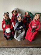 Byers Choice Carolers Lot Of 5 Vintage Christmas 1981 X4 And One Doesn't Say