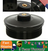 Aluminum Billet Oil And Fuel Filter Caps Cover Fits Ford F-series 6.0l Powerstroke