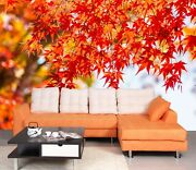 3d Red Leaf Zhu1754 Wallpaper Wall Mural Removable Self-adhesive Zoe