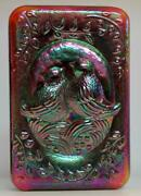 Fenton Art Glass Ruby Red Carnival Paperweight Love Birds