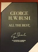 Signed President George H.w.bushall The Bestnumbered+collector Box+coa+picture