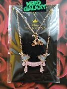 Disney Cinderella Carriage Happily Ever After Necklace Set New Licensed