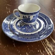 Lot Of 3 Blue Willow Dishes