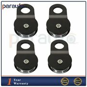 22000 Lbs Snatch Block 10 Ton Black Recovery Winch Pulley Towing Heavy Duty 4pcs