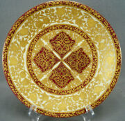 Royal Crown Derby Raised Gold Beaded Floral Red And Yellow 9 1/8 Plate
