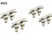 4pcs 6-1/2 Boat Pop Up Cleat Flush Mount Stainless Steel Boat Marine Chocks