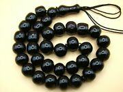 Old Real Antique Rare German Bakelite Amber Necklace Rosary Prayer Beads 73 Gr.