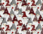 Christmas Gnomes Holiday Gnome Elf 100 Cotton Timeless Treasures By The Yard