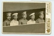 Russian Wwi Navy Aviation School Cadets Pilot Rare Photo Kabinet Imperial Russia