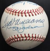 500 Home Run Club Autographed Nl Ball, Mickey Mantle, Ted Williams, 12 Sig, Jsa