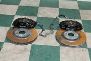 07-12 Mustang Svt Gt500 Shelby Front Brembo Black Calipers Brakes Rotors