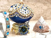 One Of A Kind Bride To Be Gift Faberge Russian Easter Egg Set Necklace Bracelet
