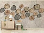 3d Round Wood Zhu2661 Wallpaper Wall Mural Removable Self-adhesive Zoe