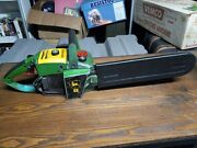 Early Vintage John Deere No. 8 Chainsaw 12 Bar W/ Cover - Runs Strong And Tough