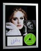 Adele+signed+framed+21+19+25+hello+skyfall+love=100 Authentic+fast+global Ship