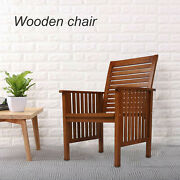 Rubber Wood Patio Chair Leisure Chair Outdoor Furniture For Yard/porch/pools Us
