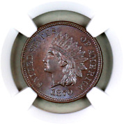 1870 Ms64 Bn Ngc Indian Head Penny Premium Quality Superb Eye-appeal