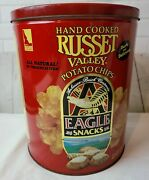 Hand Cooked Russette Valley Potato Chip Eagle Snack Anheuser Busch Co. Tin